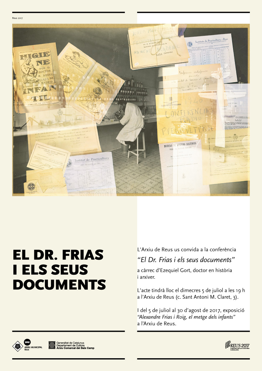 Conferència sobre els documents del doctor Alexandre Frias a l'Arxiu de Reus.