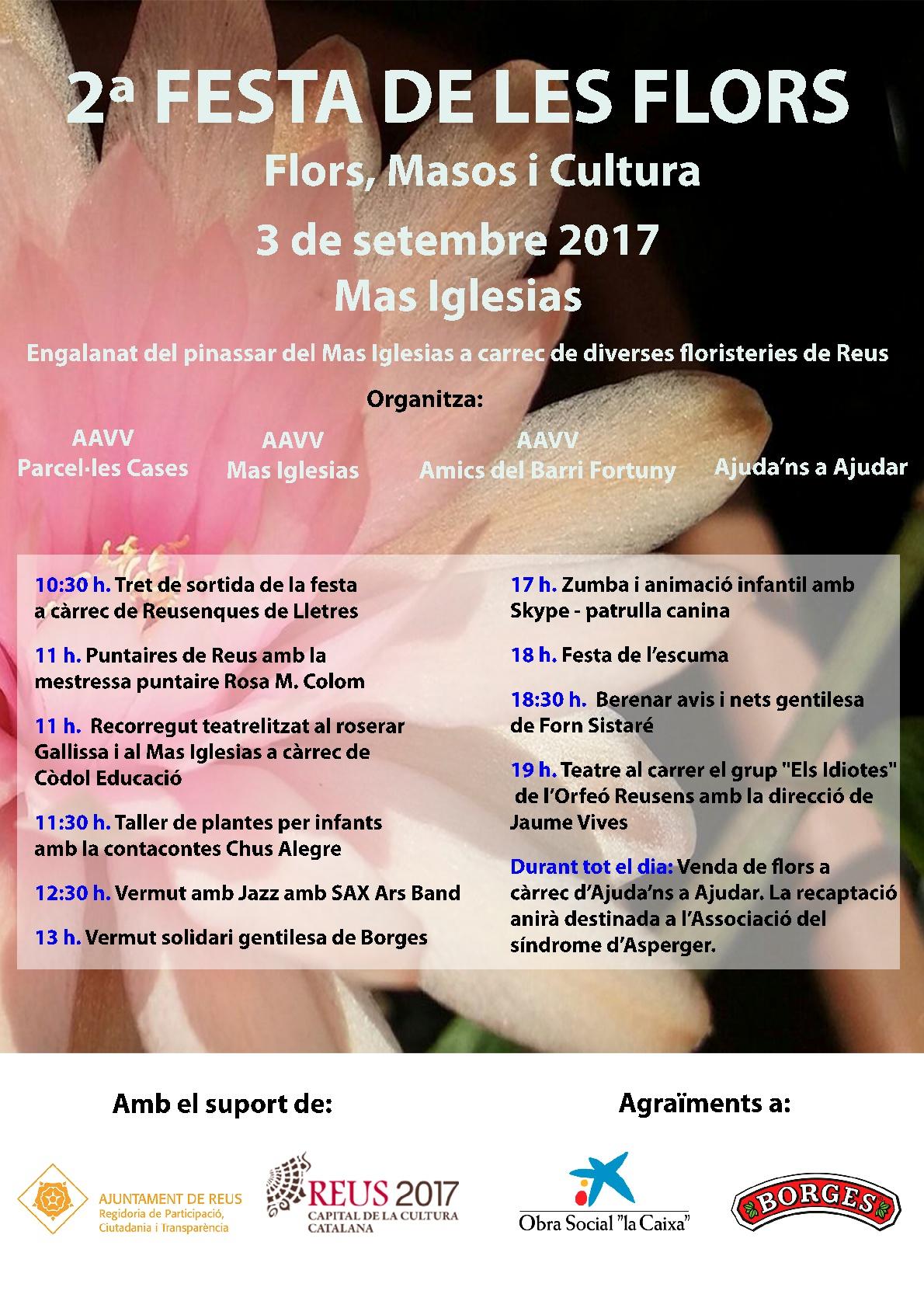 2a Festa de les Flors . Flors, Masos i Cultura