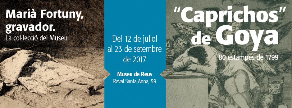 Exposició «Caprichos» de Goya i Marià Fortuny, gravador