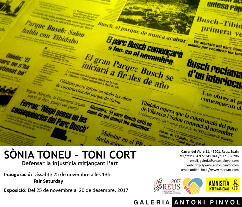 Toni Cort i Sònia Toneu: Defensar la injustícia mitjançant l'art.
